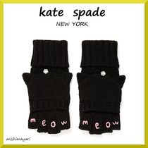 【kate spade】 猫耳ミトンのてぶくろ meow pop top mitten