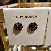 2018AW♪ Tory Burch ★ FLOWER LOGO STUD EARRING: ピアス
