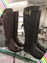 kate spade Ronnie Riding Bootsロゴ付きライディングブーツ2色