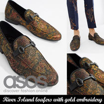 ASOSローファー◆River Island loafers with gold embroidery