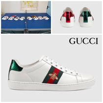 【GUCCI】送料込☆Ace embroidered sneaker 蜂スニーカーWHITE