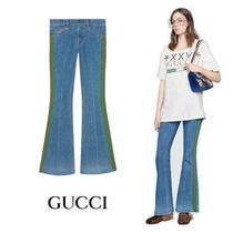 【GUCCI】Pantalone flare in denim stretch
