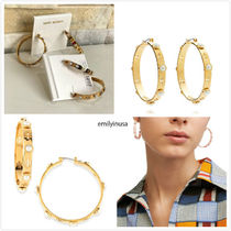 即発 Tory Burch★T-Pierced Logo & Pearl Hoop Earrings*パール