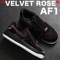 18AW VELVET ROSE NIKE AIR FORCE 1 QS 魅惑のベルベット 黒