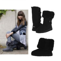 UGG 大人も履ける!Bailey Button Triplet Black