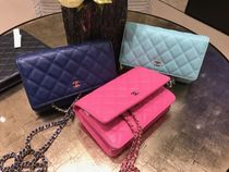 Chanel新作♡キャビアChain Wallet 3色♡