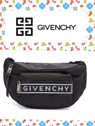 (*^▽^*)GIVENCHY /Logo-jacquard nylon belt bag