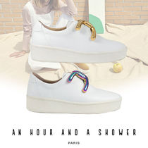 AN HOUR AND A SHOWER knot カーフレザー スニーカー