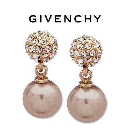 GIVENCHY ピアス Sale!【GIVENCHY】クリスタル&パール入りピアス(Rose Gold)