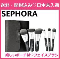SEPHORA Mini Deluxe Charcoal Antibacterial Brush Set