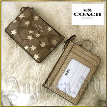 プレゼントに最適★Coach Star ID Keychain Card Wallet F39047