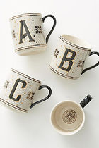 【Anthropologie】Tiled Margot Monogram A マグカップ