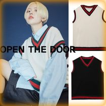 【OPEN THE DOOR】人気★School Vest (2 Color) - UNISEX★全2色
