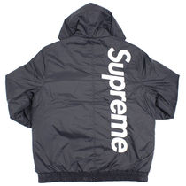 15AW Supreme 2-tone Sideline Jacket Red 黒 Black Sサイズ