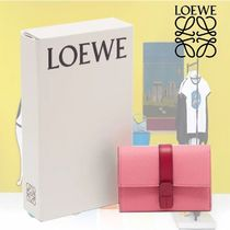 【19SS】★LOEWE★Anagram grained-leather wallet
