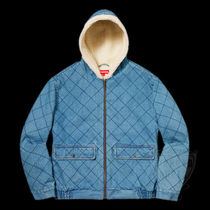 FW18 SUPREME QUILTED DENIM PILOT JACKET BLUE S-XL 送料無料