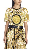 VERSACE◎ibiscus コットンTシャツ A82255A229176A7900