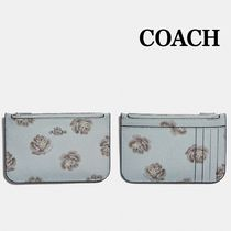 新作!COACH コーチ Zip Card Case With Rose カードケース