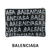 BALENCIAGA / Carry Clip M pouch in Arena leather