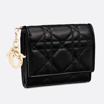 Dior☆LADY DIOR LAMBSKIN WALLET コンパクト 財布 / black