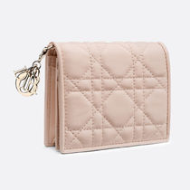 Dior☆LADY DIOR LAMBSKIN WALLET コンパクト 財布 / pink