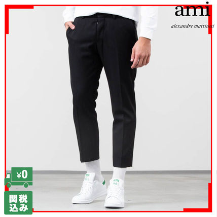 関税送料込 クロップド Ami Cropped Tailored Trousers Pants hrBdxQCts