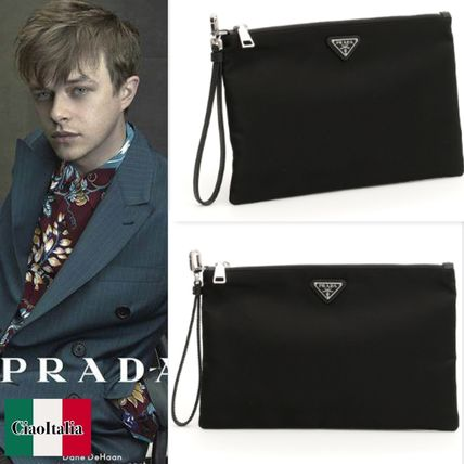 PRADA Flat Pouch With Handle