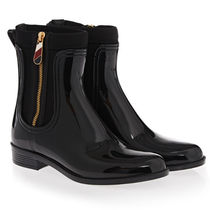 ★Tommy Hilfiger★Gloss Ankle レインブーツ/ Black