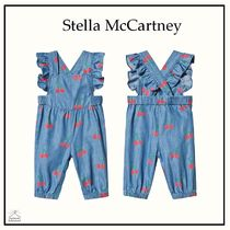 Stella McCartney☆BABY GIRLフリルオーバーオール blue 3-36M