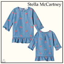 Stella McCartney☆BABY チェリーフリルドレス blue 6-36M