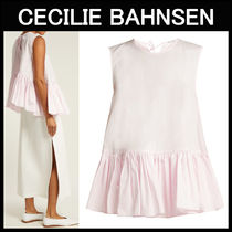 CECILIE BAHNSEN(セシリエバーンセン) ブラウス・シャツ CECILIE BAHNSEN〓ラッフル ピンク コットントップス
