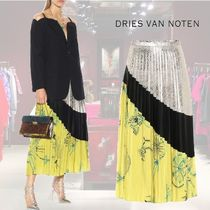 【RUNWAY★18AW】★Dries Van Noten★Pleated silk skirt