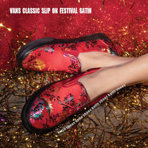 VANS★CLASSIC SLIP ON FESTIVAL SATIN★サテン素材★刺繍★3色
