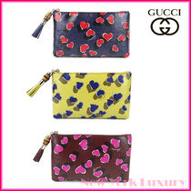 GUCCI★グッチ★素敵!Heartbeat Leather Pouch w/Bamboo Detail