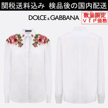 少数入荷 新作SALE★Dolce&Gabbana roses embroidered shirt