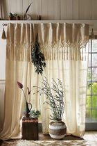 【Anthropologie】Knotted Macrame Ivory カーテン