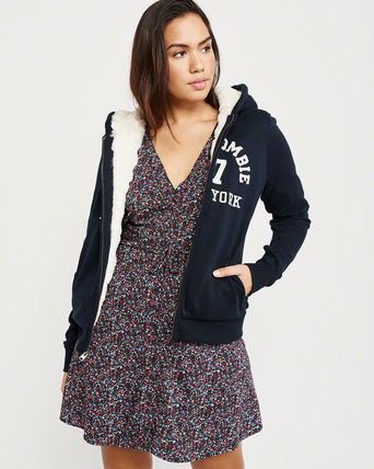 Abercrombie & Fitch パーカー・フーディ Abercrombie&Fitch*国内発送(追跡有)送関込*もこもこフーディー(5)
