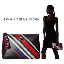 【Tommy Hilfiger】●新作● T-Bottom Pouch Diagonal Stripe
