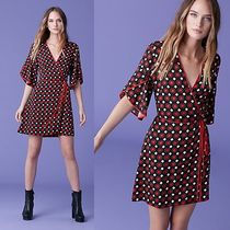 ☆DVF☆ ドットが可愛い♪   Cinnamon Mini Wrap Dress