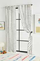 【Anthropologie】Tufted Makers BLACK WHITE カーテン