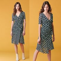 ☆DVF☆ 裾にフリル♪ Farrell Short Sleeve Mesh Dress