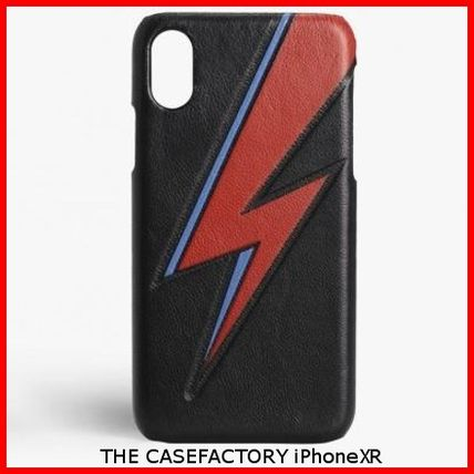 THE CASE FACTORY スマホケース・テックアクセサリー 関税送料込☆THE CASEFACTORY☆IPHONE XR BOWIE LIGHTNING BLACK