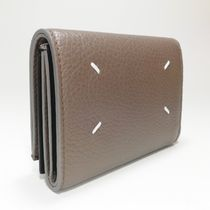 FOLD-OUT LEATHER WALLET IN KHAKI