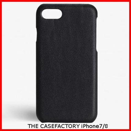THE CASE FACTORY スマホケース・テックアクセサリー 関税送料込☆THE CASEFACTORY☆IPHONE 7/8 CALF DRUMMED BLACK