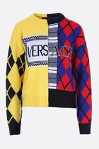 VERSACE ▲AW18/19argyle ウール and カシミヤ pullover