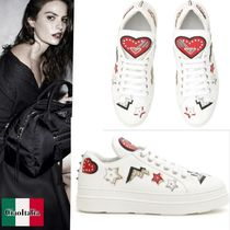 PRADA Sneaker With Heart Patches