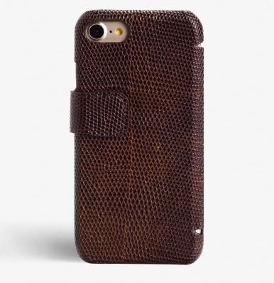 THE CASE FACTORY スマホケース・テックアクセサリー 関税送料込☆THE CASEFACTORY☆IPHONE7/8 CARDCASE LIZARD BROWN(2)