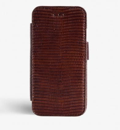 THE CASE FACTORY スマホケース・テックアクセサリー 関税送料込☆THE CASEFACTORY☆IPHONE7/8 CARDCASE LIZARD BROWN(3)