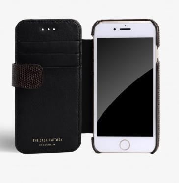 THE CASE FACTORY スマホケース・テックアクセサリー 関税送料込☆THE CASEFACTORY☆IPHONE7/8 CARDCASE LIZARD BROWN(4)