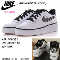 大人もOK★ NIKE AIR FORCE1 LV8 SPORT GS★ 白/黒  22.5〜25cm